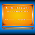 Free The Certificate Royalty Free Stock Photos - 25604498