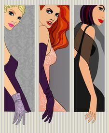 Free Three Girls Stock Photo - 25600420
