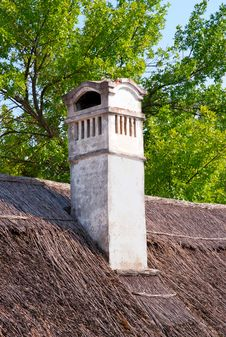 Free Old Chimney On A Farmhouse Royalty Free Stock Photo - 25601685