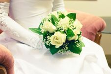 Free Brides Bouquet Of Roses Royalty Free Stock Photography - 25603297