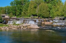 Free Sauble Falls In South Bruce Peninsula, Ontario Royalty Free Stock Image - 25603606