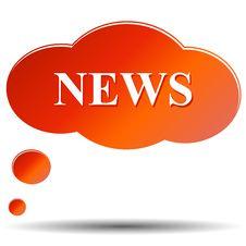 Free News  Icon Stock Photo - 25604560