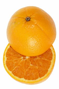 Free Half Cut Orange Stock Photography - 25606132