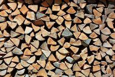 Free Pile Of Firewood Stock Image - 25606901