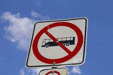 Free Bus Not Allowed Sign Stock Photography - 25607032