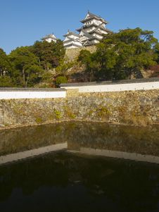 A Moat Of Himeji Castle Royalty Free Stock Image