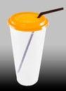 Free Glass White Plastic Coffee Lid Stock Photos - 25613903
