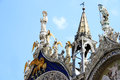 Free Winged Lion And Angels Decorating Venetian Church Stock Photo - 25614050