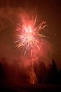 Free Red Fireworks Exploding Stock Image - 25618541