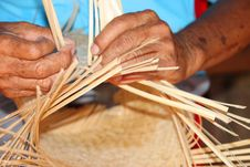 Free Traditional Bamboo Weaving Stock Photography - 25612892