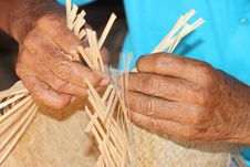 Free Traditional Bamboo Weaving Stock Photography - 25612942