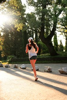 Free Sunrise Running Stock Image - 25613841