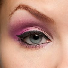 Free Woman Eye With Make-up Stock Image - 25616891