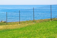 Free Access Is Prohibited To The Sea Fence. Stock Image - 25618021