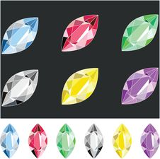 Oval Crystals Royalty Free Stock Photography