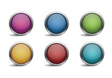 Glossy Button Set Royalty Free Stock Image