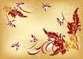 Free Gentle Vector Floral Background In Vintage Style Stock Images - 25624034
