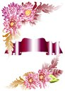 Free Invitation Vector Card With Flowers And Banner Stock Photography - 25624182