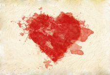 Free Grunge Heart On Paper Stock Photo - 25623590