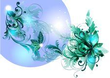 Free Blue  Flourish  Background Royalty Free Stock Photo - 25623605