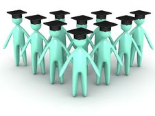 Free Graduating Cartoon Stock Photography - 25624052