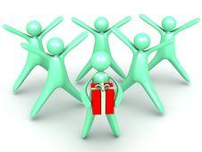 Free Surprise Gift Royalty Free Stock Photo - 25624075