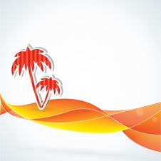 Free Summer Vector Background, Orange Colors Stock Photography - 25624512