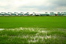 Free Rice Field And Modern Factory Royalty Free Stock Photos - 25625148