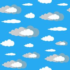 Seamless Clouds On Blue Sky,pattern Royalty Free Stock Images