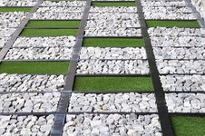 Free Lawn And Stones In Rectangle Royalty Free Stock Image - 25627326