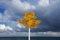 Free Bluff Landmark Signpost, New Zealand Stock Images - 25634954
