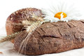Free Two Loaves Of Bread And Wheat Ears Royalty Free Stock Photo - 25639155