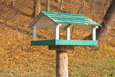 Free Wooden Bird Feeder In The Park Stock Photography - 25632022