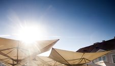 Free Abstract Terrace Umbrellas Stock Images - 25632044