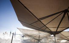 Free Abstract Terrace Umbrellas Royalty Free Stock Photo - 25632045