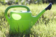 Green Watering Can Stock Images