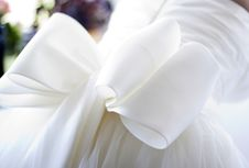Detail Of Bridal Dress Royalty Free Stock Photos