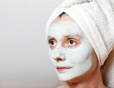 Spa Facial Mask Stock Photography