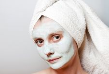 Free Spa Facial Mask Royalty Free Stock Photos - 25632228