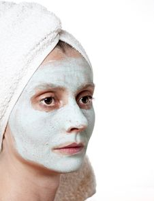Free Spa Facial Mask Royalty Free Stock Photo - 25632235