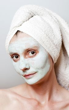 Spa Facial Mask Stock Image