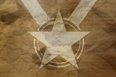 Free Star On Antique Background Stock Photos - 25632943