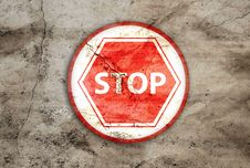 Free Stop Rusty Sign Royalty Free Stock Photography - 25633307