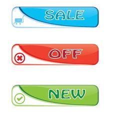 Sale Banner Set Stock Images