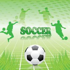 Free Soccer Green Abstract Background Royalty Free Stock Image - 25634806