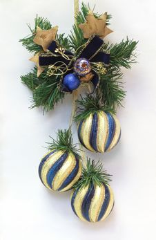 Christmas Decoration With Christmas Balls Stock Images