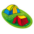 Free Two Touristic Tents Royalty Free Stock Image - 25642516