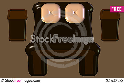 Free 3d Bed Royalty Free Stock Photos - 25647288