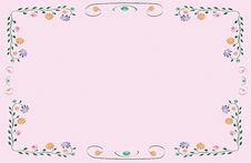 Free Vector Flower Classic Colorful Frame Royalty Free Stock Photography - 25640357