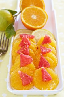 Free Citrus Breakfast Royalty Free Stock Photo - 25640755
